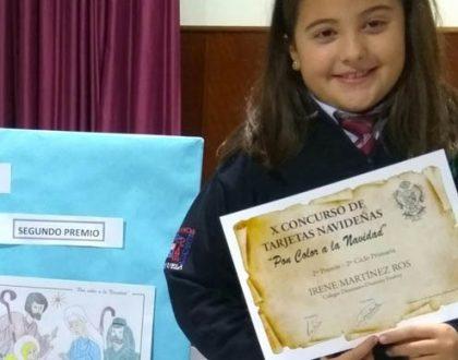 La alumna Irene Martínez Ros premiada en el X concurso de tarjetas y postales navideñas
