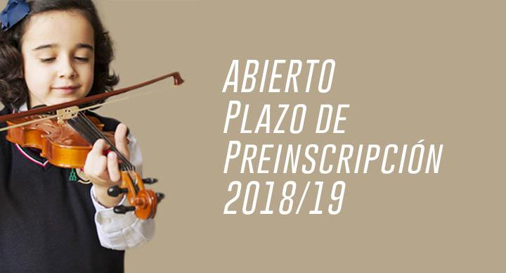 ABIERTO Plazo de Preinscripción 2018/19