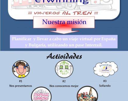 Recibimos el Sello de Calidad de eTwinning por el proyecto «INTERRAIL: ¡VIAJEROS AL TREN!».