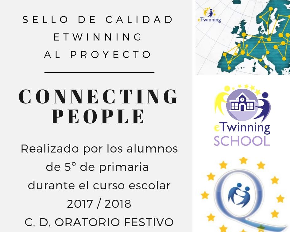 Recibimos el Sello de Calidad de eTwinning por el proyecto trabajado por los alumnos de 5º de primaria del pasado curso: «Connecting People»